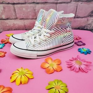 All-Star Converse Colorful Star Pattern Sz 7.5